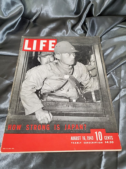 WWII LIFE MAGAZINE JAPAN AUGUST 16 1943