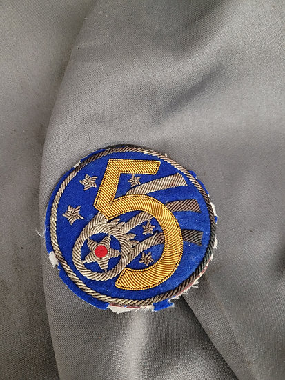 WWII 5TH AIR FORCE BULLION PATCH