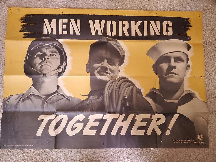 PRE-WWII US PROPAGANDA POSTER