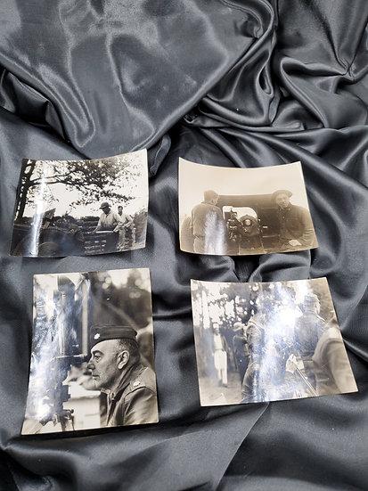 WWII ERA ORIGINAL PHOTO GROUPING FELTS FIELD