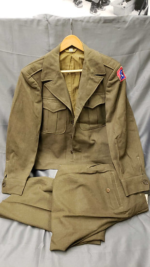 WWII US ENLISTED 5TH ARMY IKE JACKET & TROUSERS