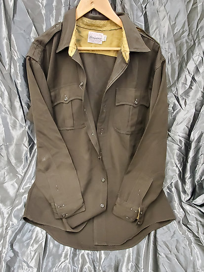 VINTAGE NON MILITARY OFFICER LIKE WWII CHOCOLATE SHIRT