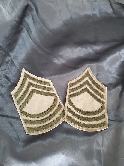 WWII MASTER SERGEANT RANK KHAKI