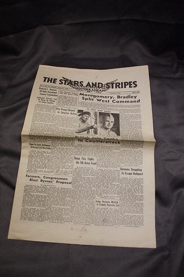 WWII Stars And Stripes Newspaper