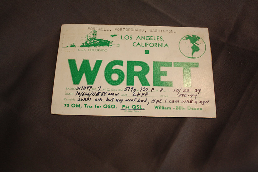 Pre-WWII Frequency Postcard