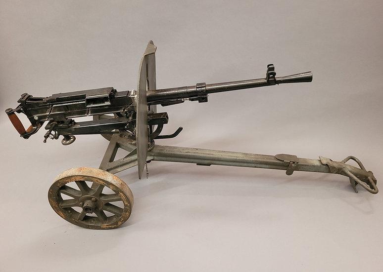 SOVIET SG43 MACHINE GUN & WHEELED CARRIAGE (Non Gun)
