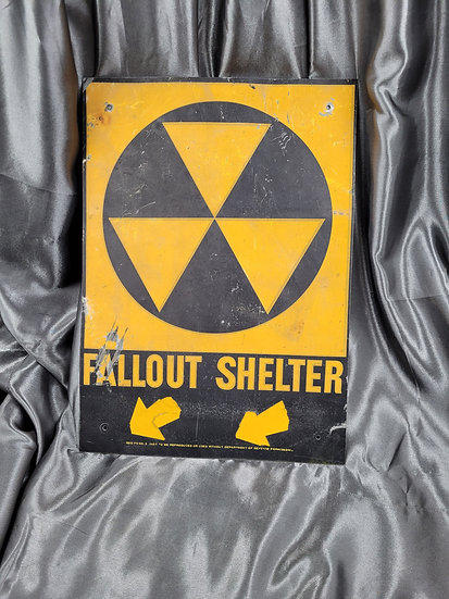 FALL OUT SHELTER METAL SIGN