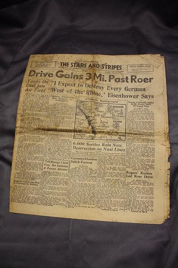 WWII Stars & Stripes Newspaper