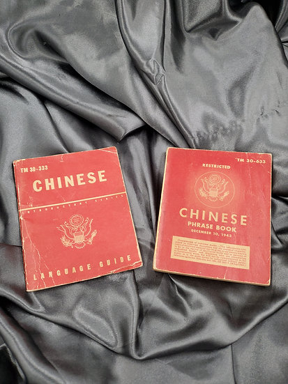 WWII CHINESE LANGUAGE & PHRASE BOOK