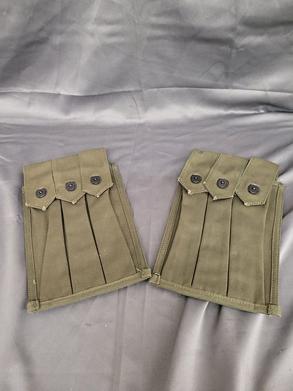 VIETNAM ERA M3 GREASE GUN MAGAZINE POUCHES