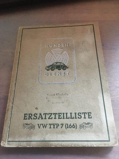 WWII GERMAN TYPE 166 VW-SCHWIMMWAGEN MANUAL