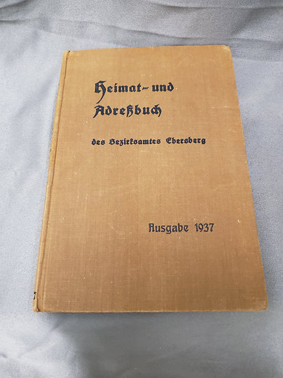 WWII ERA GERMAN CITIZEN PHONE BOOK EBERSBERG