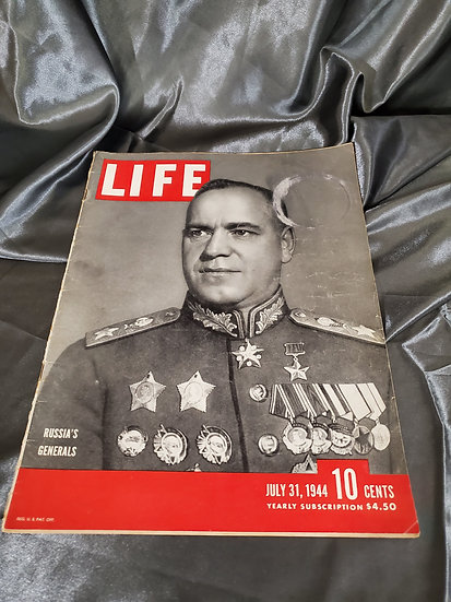 WWII LIFE MAGAZINE RUSSIA'S GENERALS JULY 31 1944