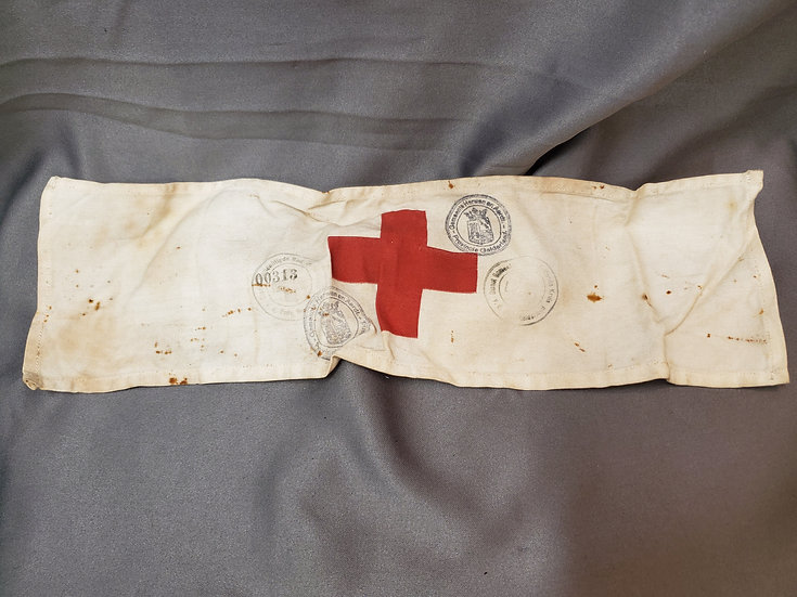 RARE WWII OR PRE-WWII NETHERLANDS RED CROSS ARMBAND