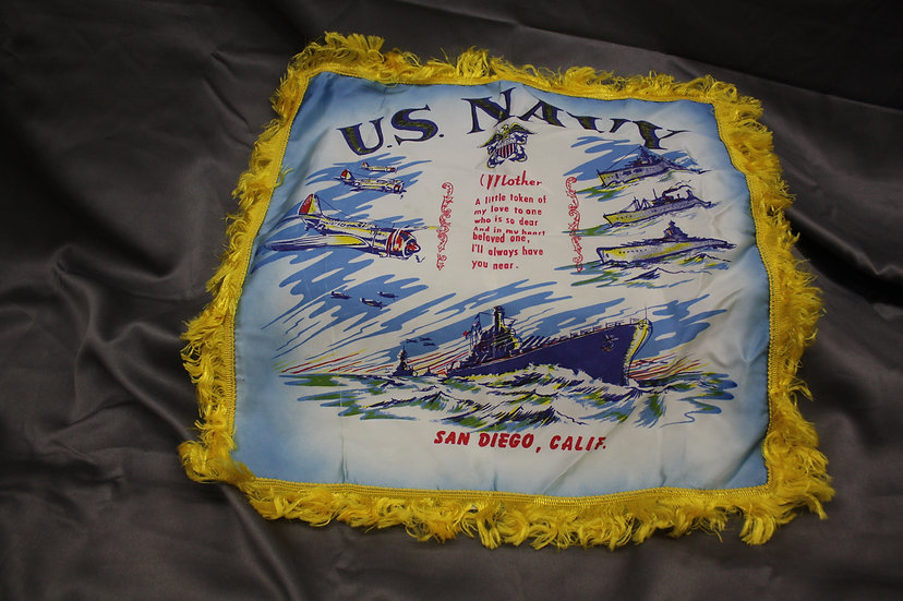 WWII US Navy Sweetheart Pillow