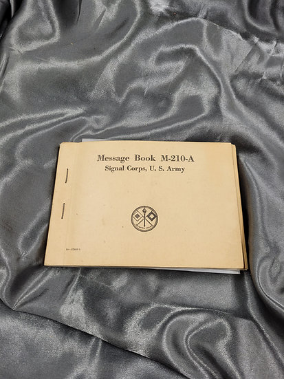 WWII SIGNAL CORPS MESSAGE BOOK