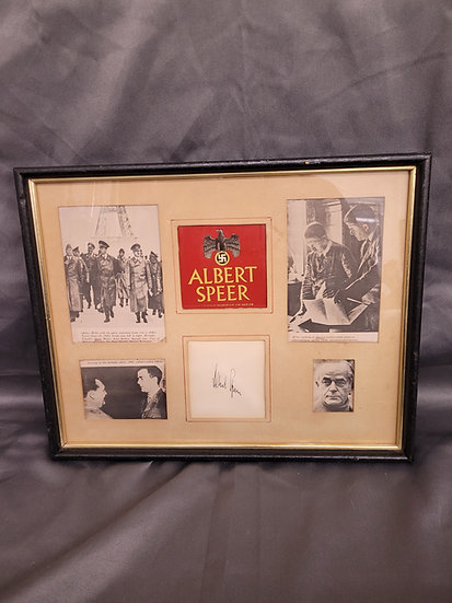 GERMAN ALBERT SPEER AUTOGRAPH