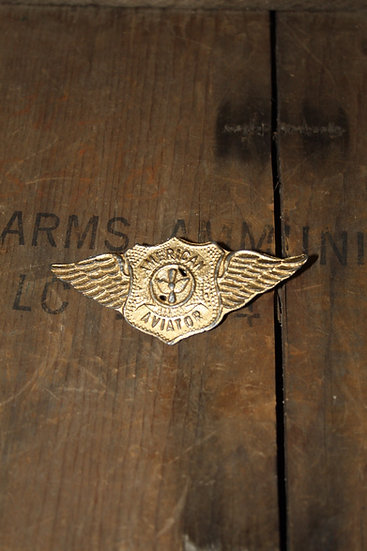 Vintage American Aviator Toy Pin Badge