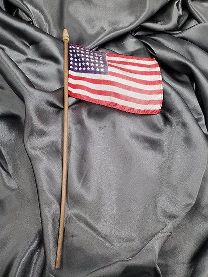 WWII ERA 48 STARS SMALL PARADE FLAG
