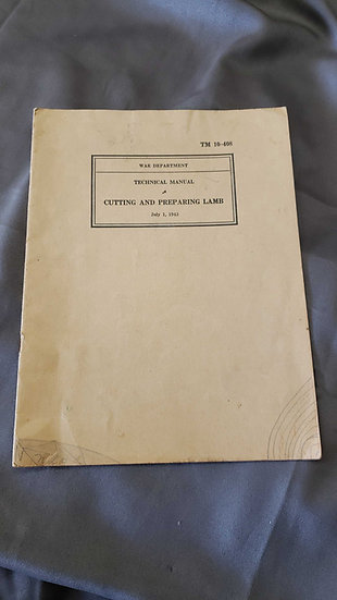 WWII US TECHNICAL MANUAL - LAMB CUTTING