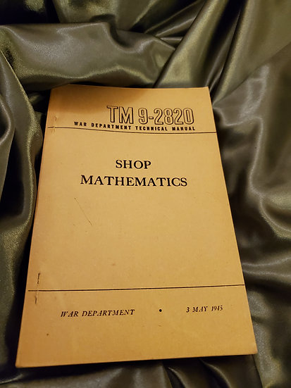 WWII US SHOP MATHEMATICS MANUAL