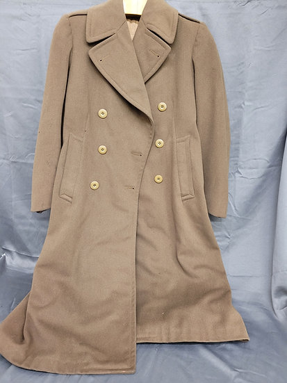 WWII SIZE 35 OFFICER MOHAIR OVERCOAT