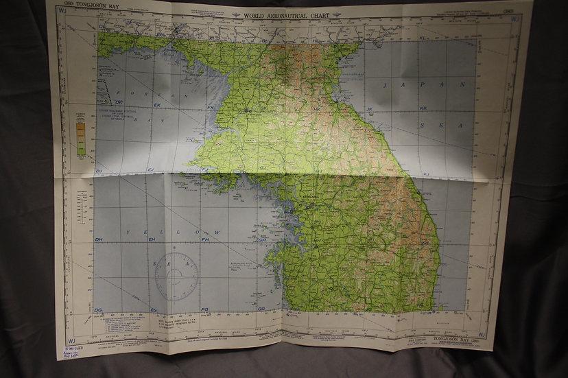Korean War Aeronautical Map - Tongjonson Bay