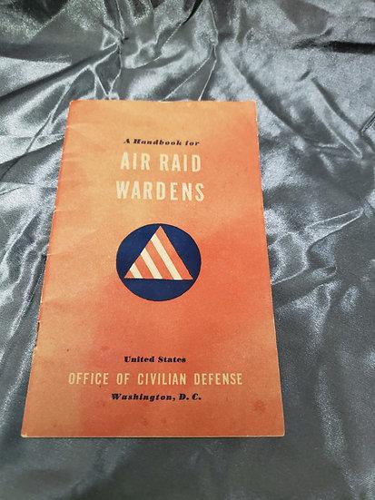 WWII AIR RAID WARDEN MANUAL