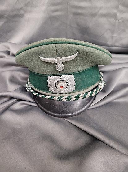 WWII GERMAN CUSTOMS  NCO VISOR CAP