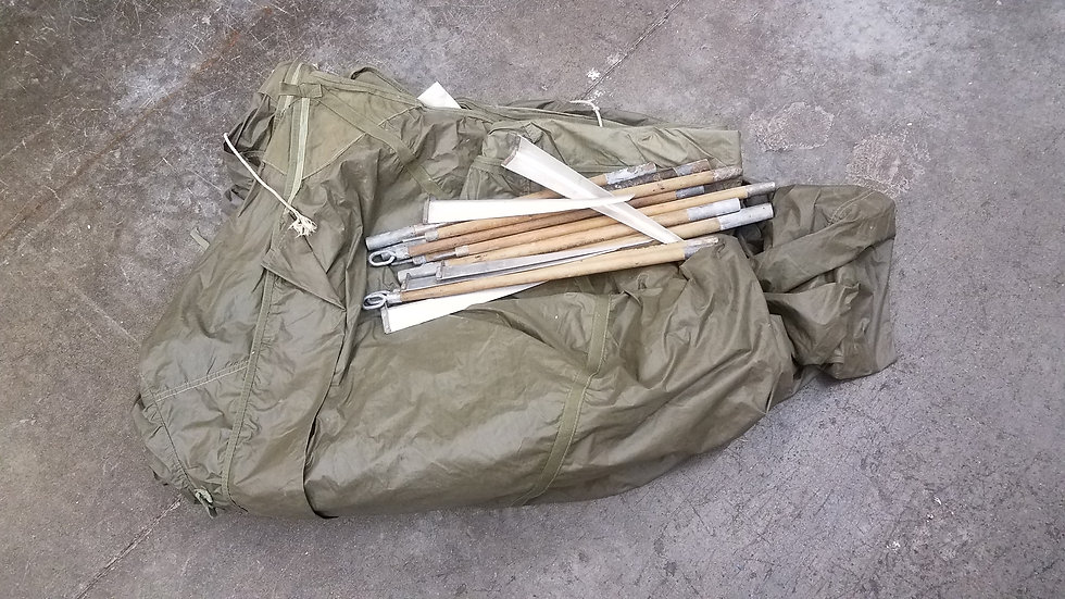 WWII US ARMY MOUNTAIN TENT WITH POLES 1944-DATED