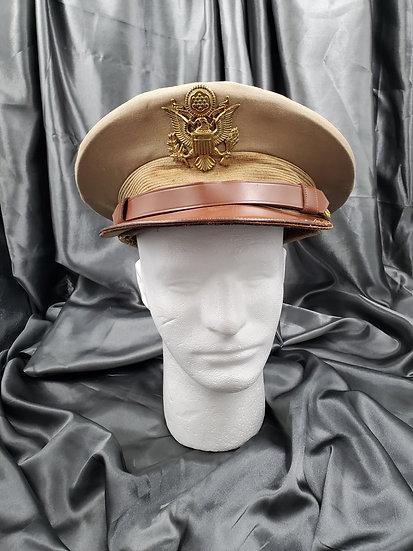 WWII KHAKI VISOR CAP
