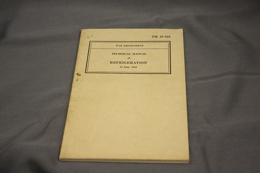 WWII Army Manual - Refrigeration