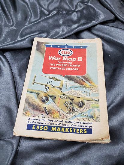 WWII ESSO BRAND WAR MAP