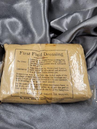 WWII BRITISH FIELD DRESSING IN WRAPPER