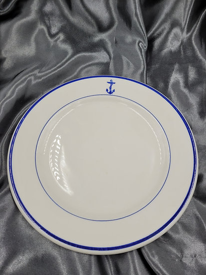 WWII US NAVY OFFICER DINNER PLATE