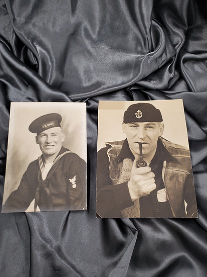 WWII PHOTOS OF FUNNY NAVY CPO