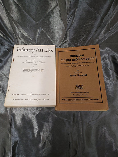 WWII GERMAN & US EDITIONS OF INFANTRY ATTACKS BY ROMMEL