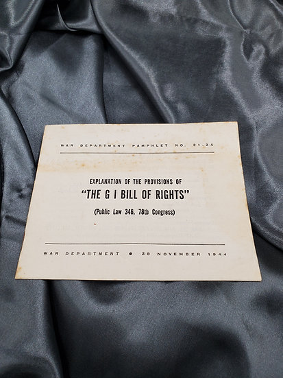 WWII PAMPHLET EXPLANATION BILL OF RIGHTS