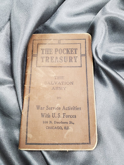WWI SOLDIERS POCKET TREASURY SALVATION ARMY BOOKLET