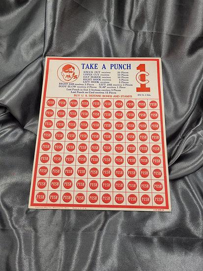 WWII US PROPAGANDA PUNCH CARD GAME