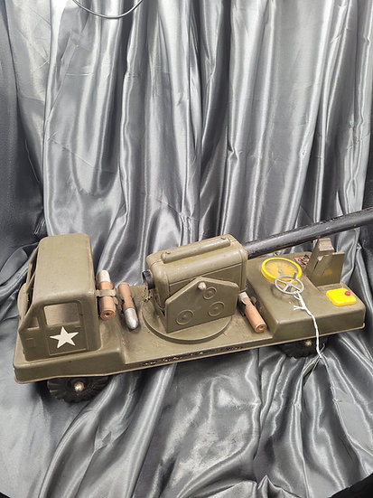 VINTAGE ELECTRIC CANON TOY TRUCK