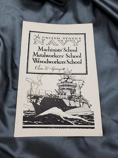 PRE-WWII US NAVY SCHOOL BOOKLET