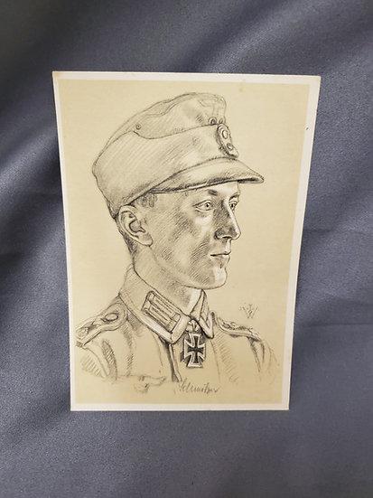 WWII GERMAN HERO POSTCARD