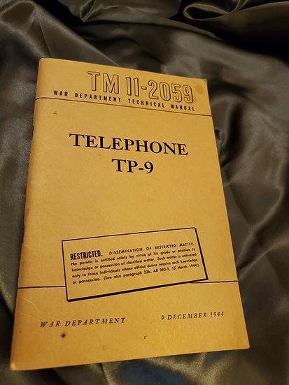 WWII TELEPHONE TP-9 MANUAL