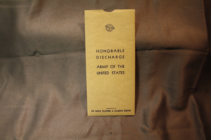 WWII US Discharge Papers