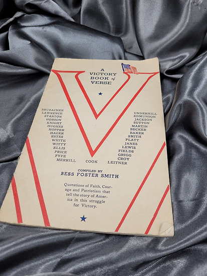 WWII VICTORY BOOK OF VERSES