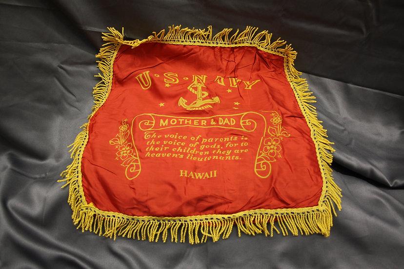 WWII USN Hawaii Sweetheart Pillow