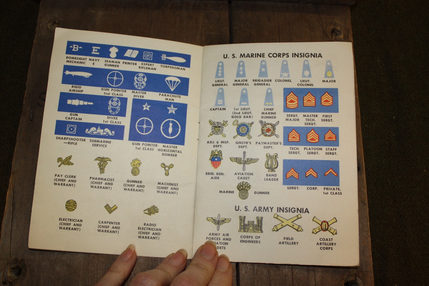 pocket reference guide army navy mar