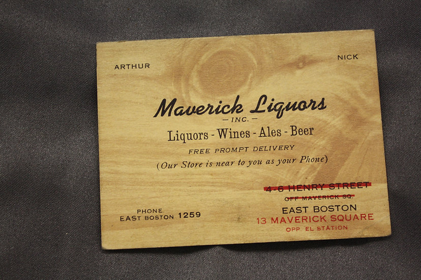 1940's Liquor Store Business Card/Map