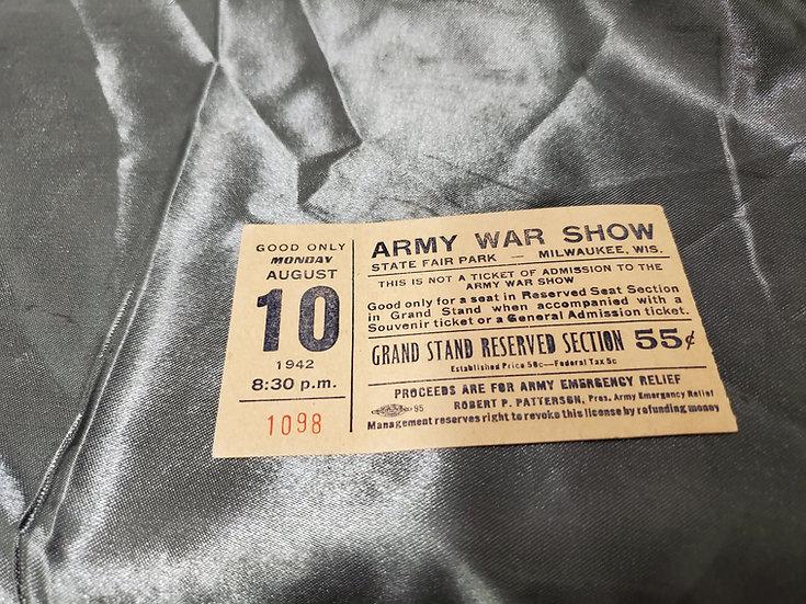 WWII ERA ARMY WAR SHOW TICKET